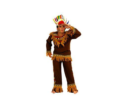 Disfraz de adulto indio marron Talla 2 (M-L)