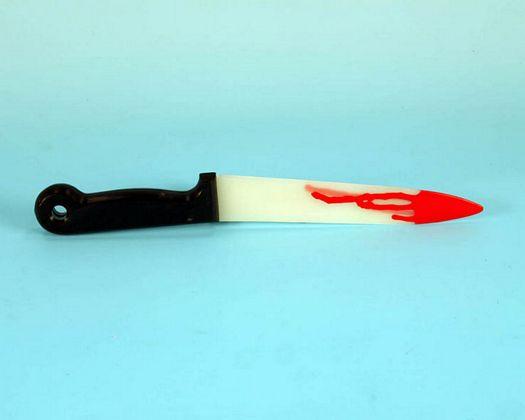 Accesorio carnaval cuchillo sangre 35cm