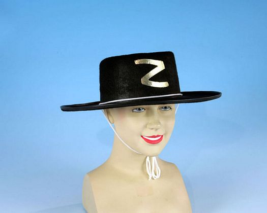 Sombrero negro heroe enmascarado Talla 2 (M-L)