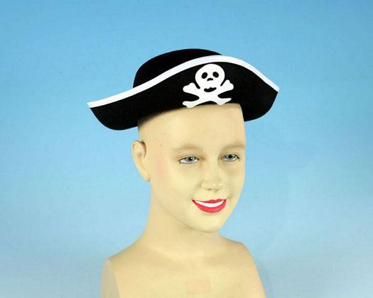 Sombrero pirata negro calavera niños