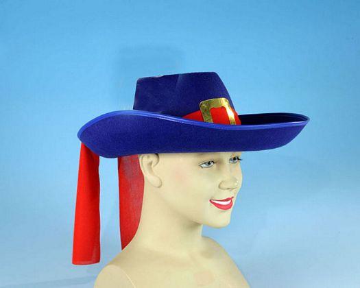 Sombrero mosquetero azul Talla 2 (M-L)