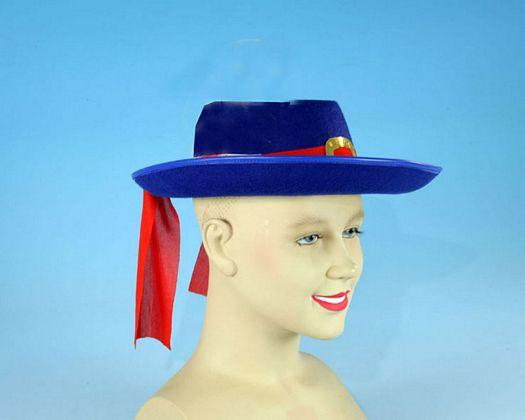 Sombrero mosquetero azul niños