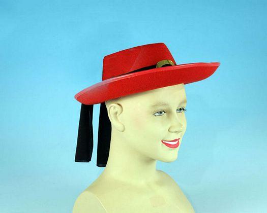 Sombrero mosquetero rojo niños