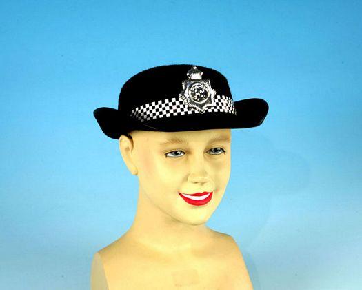 Sombrero policia inglesa placa