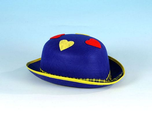Sombrero hongo azul corazones colores
