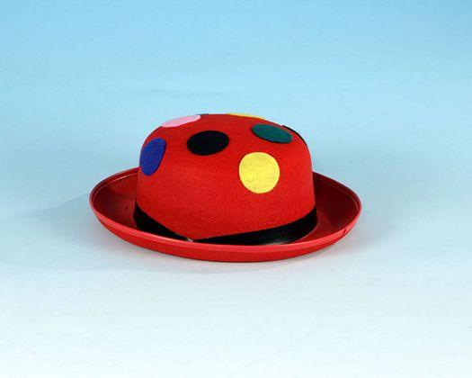 Sombrero hongo rojo lunares colores
