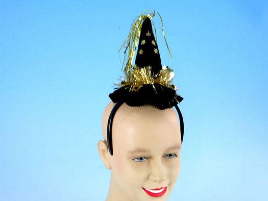 Car acces carnav diadema sombrerito bruja