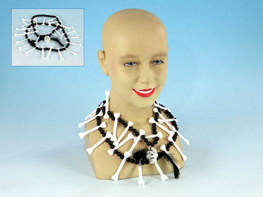 Accesorio carn collar y cinturon indio huesos