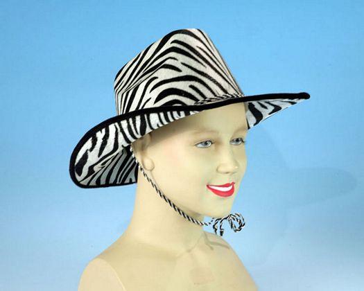 Ac carn sombrero cowboy cebra Talla 2 (M-L)
