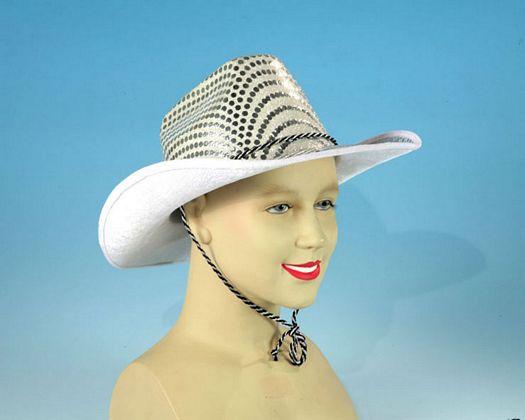 Sombrero cowboy circulos plateados