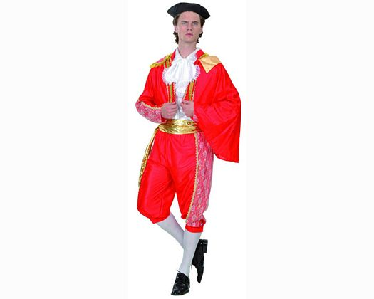 Disfraz de torero en rojo adulto