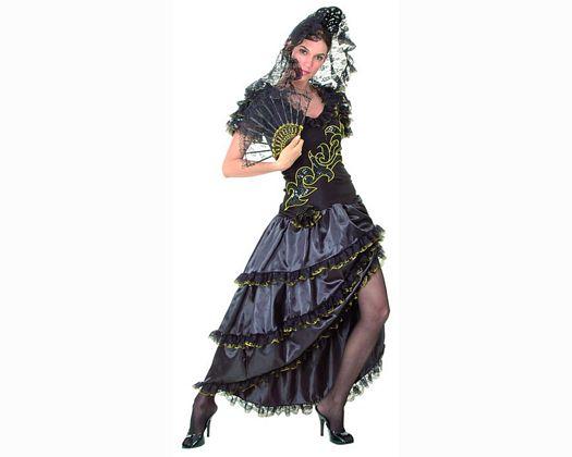 Disfraz de manola en negro adulto