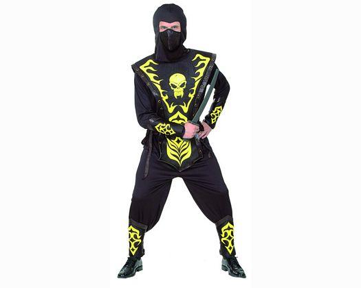 Disfraz de ninja calavera amarilla adulto