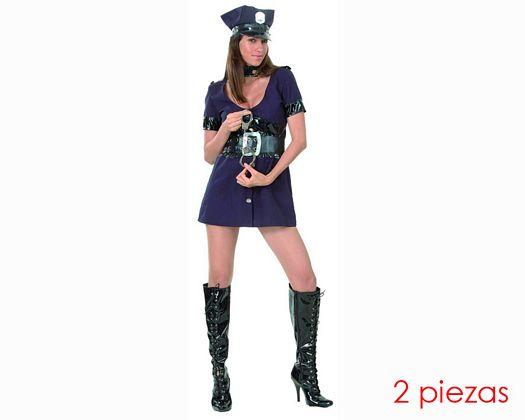 Disfraz de mujer policia sexy adulto
