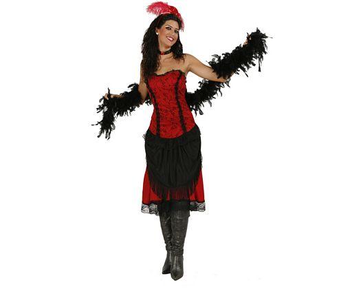 Disfraz de mujer de cabaret sexy adulto