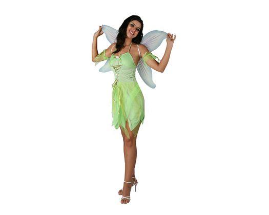 Disfraz de hada verde sexy adulto