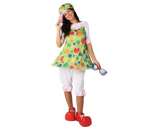 Disfraz de payasa de fiesta adulto
