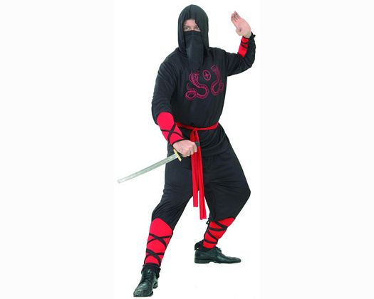 Disfraz de ninja cobra roja adulto