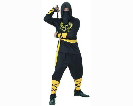 Disfraz de ninja cobra amarilla adulto
