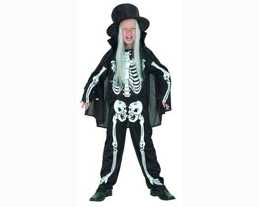 Disfraz de niÑo esqueleto blanco 7-9 aÑos