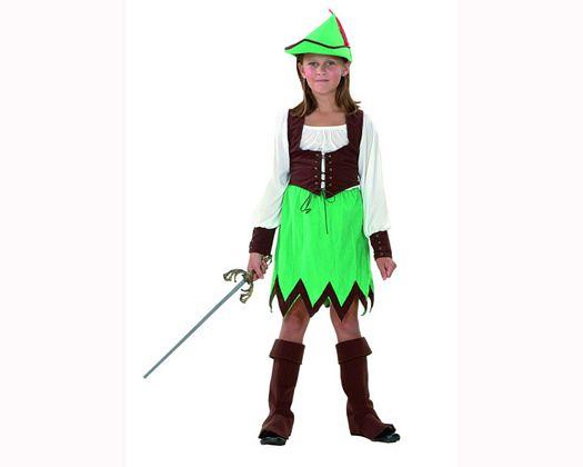 Disfraz de niña de los bosques Talla 3 (7 – 9 años) años