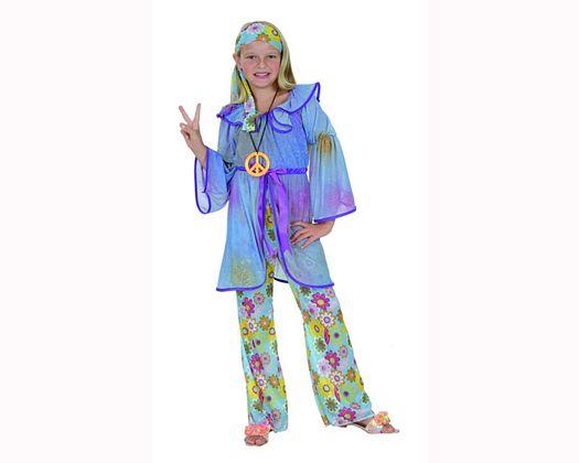 Disfraz de niña hippie 7-9 años