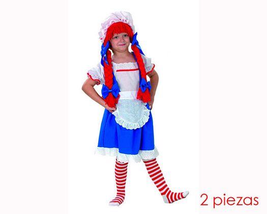 Disfraz de muñeca de trapo 7-9 años niña