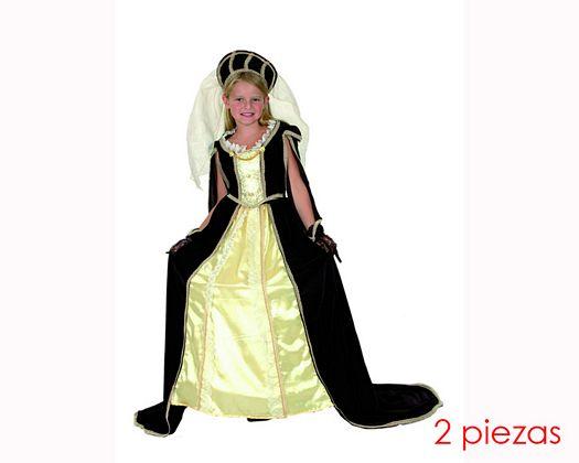 Disfraz de princesa medieval 7-9 años niña