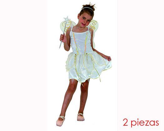Disfraz de hada blanca 5-6 aÑoniÑa