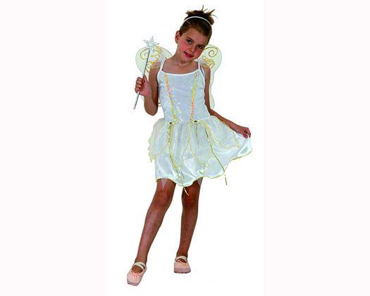 Disfraz de hada blanco 7-9 aÑoniÑa
