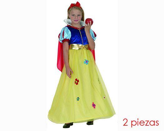 Disfraz de princesa nieves 10-12 años niña