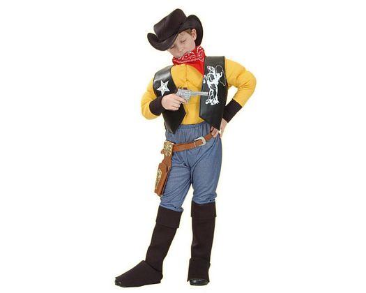 Disfraz de cowboy muculoso 7-9 años niño
