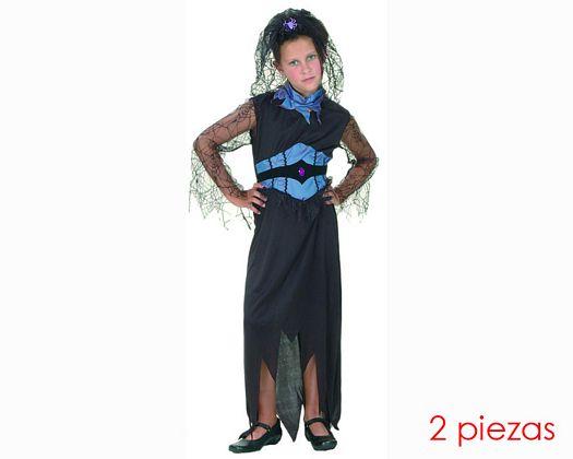 Disfraz de viuda negra 10-12
