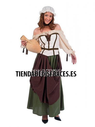 Disfraz de Tabernera Medieval Azalea