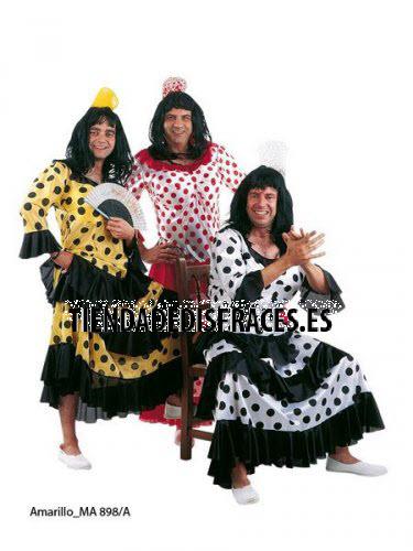 Disfraz de Flamenca Amarilla-Negra deluxe