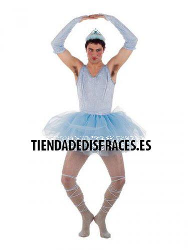 Disfraz de Bailarina Azul Hombre talla L