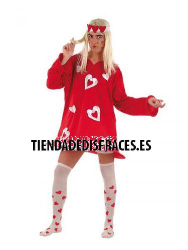 Disfraz de Corazones Sexy Rojo hombre deluxe