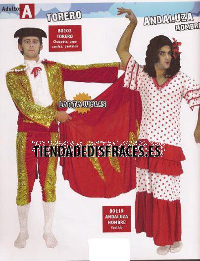 Disfraz de Sevillana o Andaluza hombre adulto