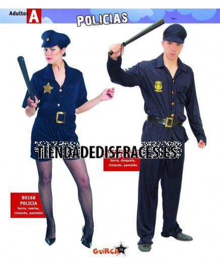 Disfraz de Policía adulto chico