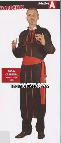 Disfraz de Cardenal adulto