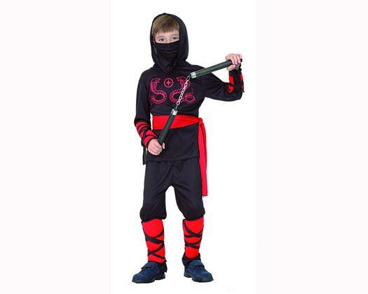 Disfraz de guerrero ninja rojo 7-9 años