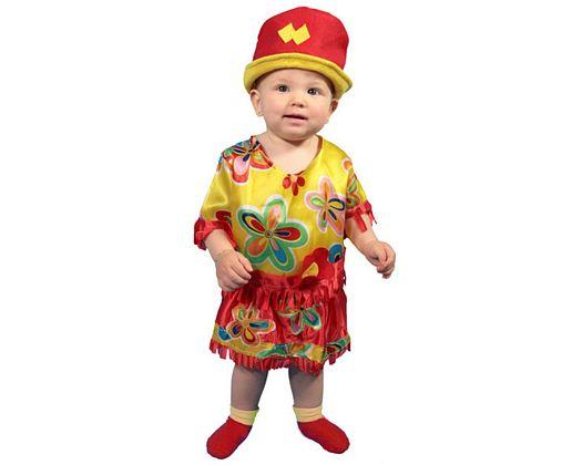 Disfraz de hippie con falda 3-4 años