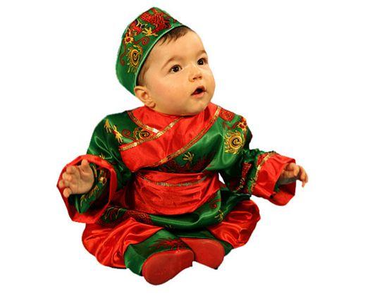 Disfraz de chino, 3-4 años