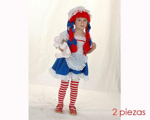 Disfraz de muñequita Talla 1 (3 – 4 años) años