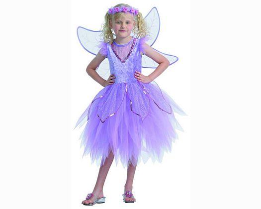 Disfraz de hada purpura 7-9 aÑos