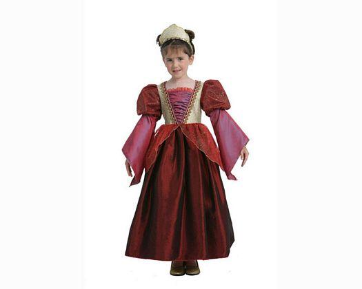 Disfraz de princesa en rojo 7-9 aÑos