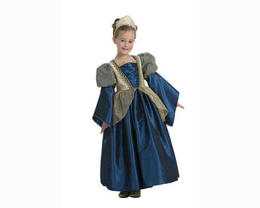Disfraz de princesa en azul 5-6 años