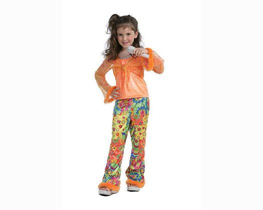 Disfraz de cantante de pop naranja Talla 2 (5 – 6 años) años