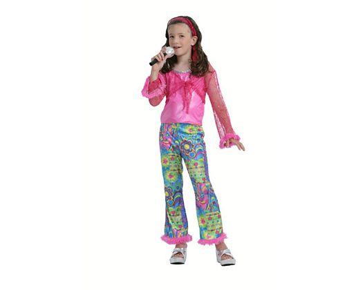 Disfraz de cantante de pop rosa 5-6 aÑos