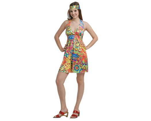 Disfraz de hippie sexy mujer